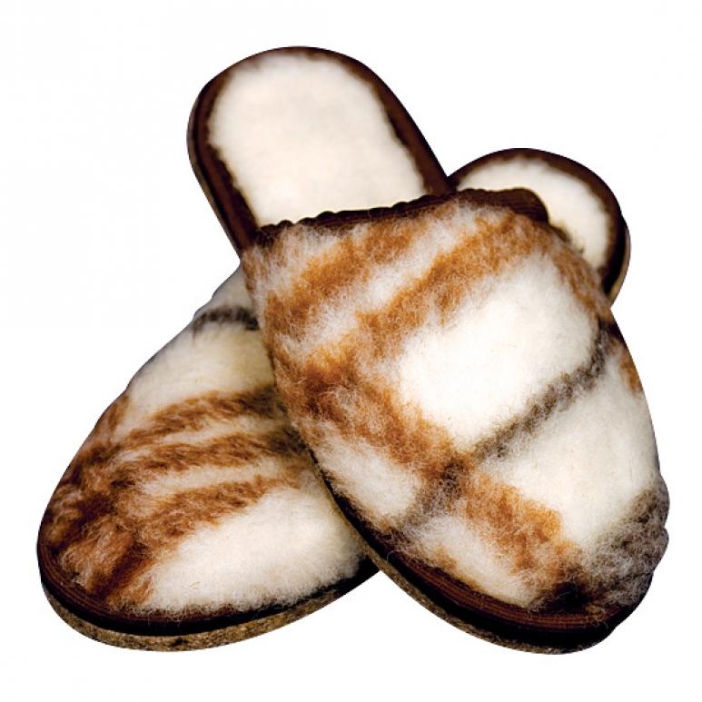 Подарок- шлепанцы из шерсти мериноса
