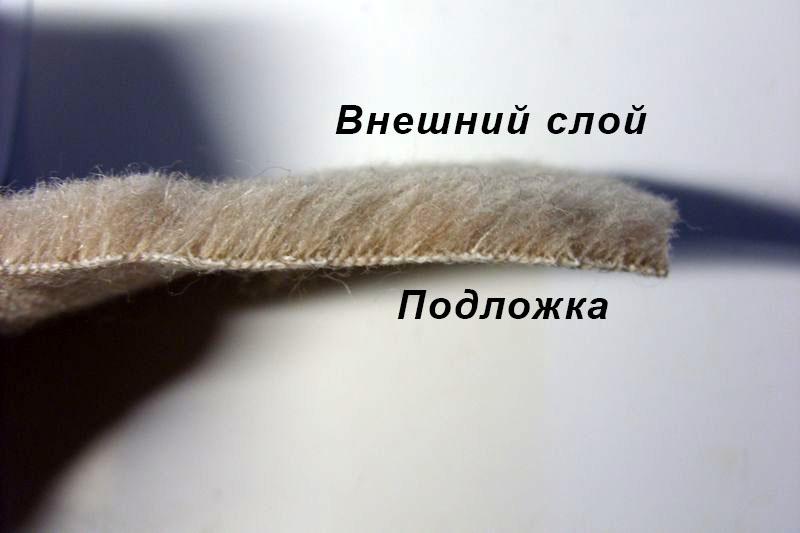 Шерсть ламы односторонняя - внутренний слой